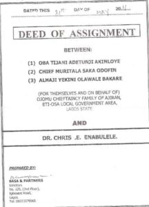 Sample image of Deed of Assignment